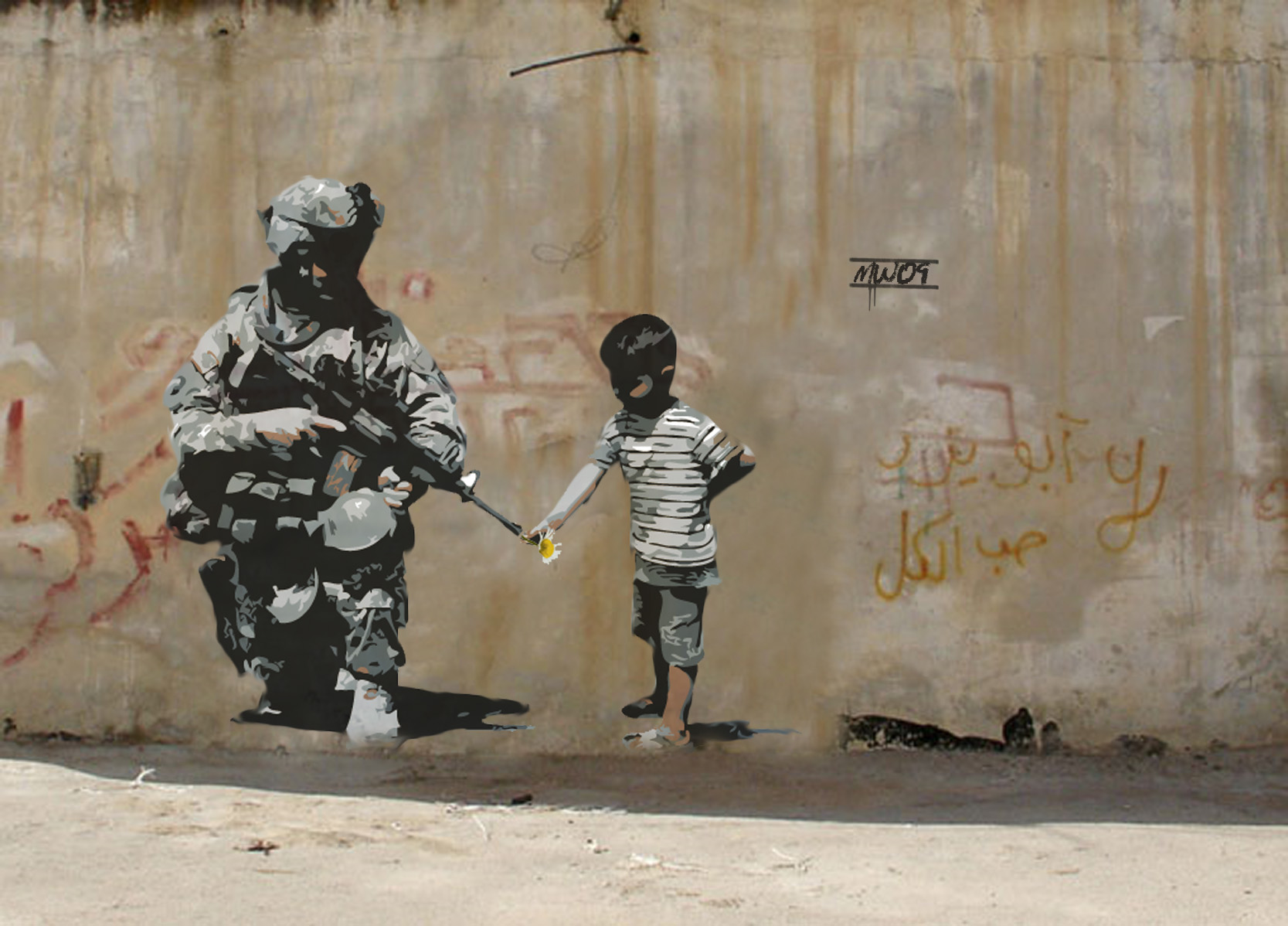 Banksy soldier