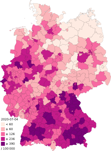 882px COVID 19 Outbreak Germany Per Capita Cases Map.svg